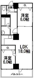 7・8ビル103棟[301号室]の間取り