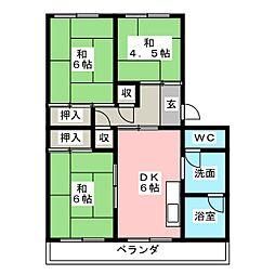きとの荘[2階]の間取り