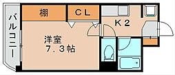 アクセス第3ビル博多[5階]の間取り