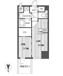 HS梅田EAST[14階]の間取り