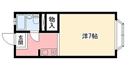 兵庫県西宮市甲子園口4丁目の賃貸アパートの間取り