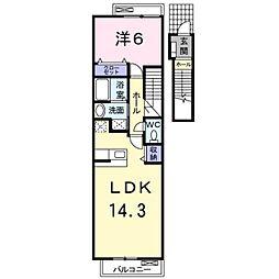 アルカディア5[2階]の間取り