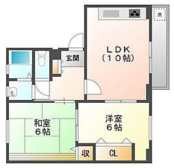 千島ハウス[4階]の間取り
