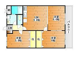 サンウォーク1[2階]の間取り