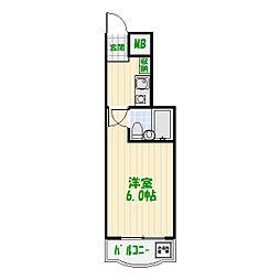 ダイアパレス亀有第2[1階]の間取り
