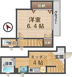 東京都杉並区方南2丁目の賃貸アパートの間取り