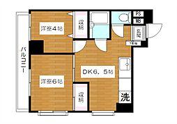 東京都板橋区徳丸2丁目の賃貸マンションの間取り