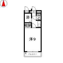 ラ・リュ奉還町[3階]の間取り