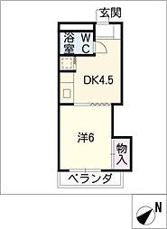 エクセル東和[4階]の間取り