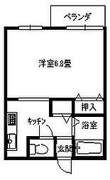ロイヤルシャトル大倉山[201号号室]の間取り