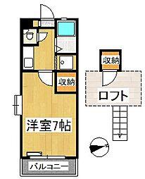 シャトレ隈 I[2階]の間取り