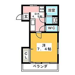 上松マンション[3階]の間取り