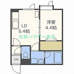 北海道札幌市東区北十五条東8丁目の賃貸アパートの間取り