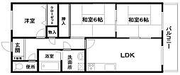 グランディール岸和田2階Fの間取り画像