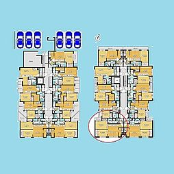 札幌市営南北線 北12条駅 徒歩7分の賃貸マンション 2階2LDKの間取り