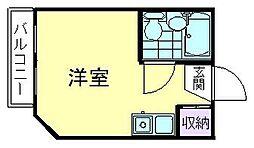 カエサル久米川[201号室]の間取り