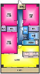 シーザスパレス[3階]の間取り