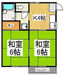 伊藤邸[2階]の間取り