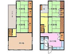 [一戸建] 三重県松阪市市場庄町 の賃貸【/】の間取り