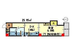 仮)西院平町新築マンション[405号室]の間取り