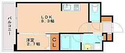 ヴィラージュ博多駅南[7階]の間取り