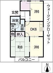 レジデンスA棟[2階]の間取り
