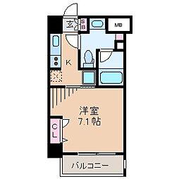 レジディア新横浜[6階]の間取り