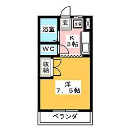 リアナ岐阜弐番館[3階]の間取り