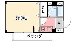 兵庫県西宮市小松町2丁目の賃貸マンションの間取り