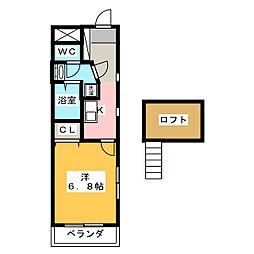 アルコバレーノ築地口[3階]の間取り