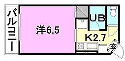 オクトワール松山土居田(東)[307 号室号室]の間取り