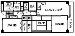 レジデンス岸和田[401号室]の間取り