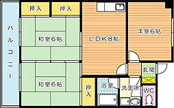 小倉南センタービル[305号室]の間取り