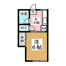 NKハイツ川平[2階]の間取り