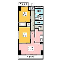 フィオーレ・K[2階]の間取り