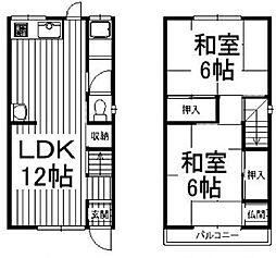 [一戸建] 大阪府枚方市高野道2丁目 の賃貸【/】の間取り