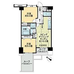 ライオンズマンション月島第2[7階]の間取り