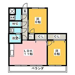 籠原第3ビル[2階]の間取り