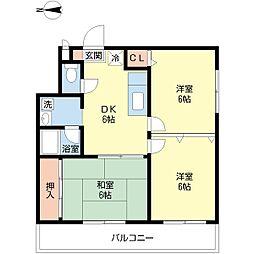 シャトー弁天弐番館[11階]の間取り