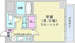 JR仙山線 東北福祉大前駅 徒歩22分の賃貸マンション 6階1Kの間取り