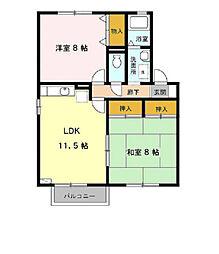 シティハウス A[2階]の間取り
