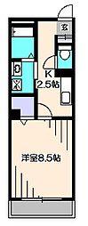 東京都西東京市富士町2丁目の賃貸マンションの間取り