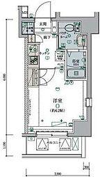 横浜市営地下鉄ブルーライン 弘明寺駅 徒歩6分の賃貸マンション 10階1Kの間取り