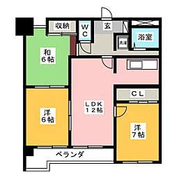 第7サワータウン[1階]の間取り