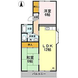 セジュール城山 A棟[2階]の間取り