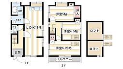 [一戸建] 奈良県奈良市古市町 の賃貸【/】の間取り
