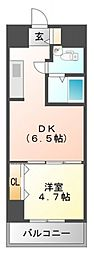 サンレムート江坂1st[8階]の間取り