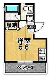 LOFTY伏見稲荷駅前 3階1Kの間取り