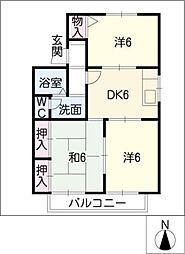ハイツファミール御幸2[2階]の間取り