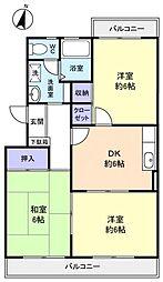 斉藤マンション[2階]の間取り